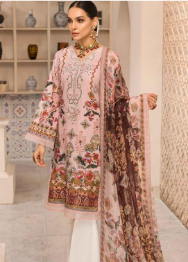 Shanaya by Saadia Asad Embroidered Lawn Unstitched 3 Piece Suit SSA19F 11 - Festive Collection