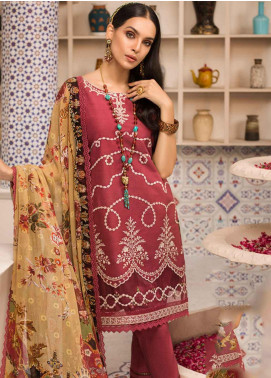 Shanaya by Saadia Asad Embroidered Lawn Unstitched 3 Piece Suit SSA19F 12 - Festive Collection