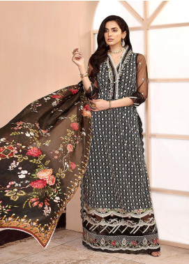 Shanaya by Saadia Asad Embroidered Net Unstitched 3 Piece Suit SA20SH D4-A - Festive Collection