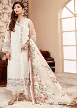 Shanaya by Saadia Asad Embroidered Net Unstitched 3 Piece Suit SA20SH D4-B - Festive Collection