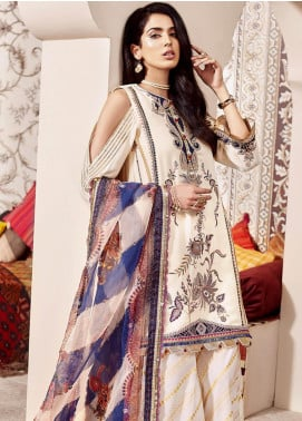 Shanaya by Saadia Asad Embroidered Cotton Net Unstitched 3 Piece Suit SA20SH D6-B - Festive Collection