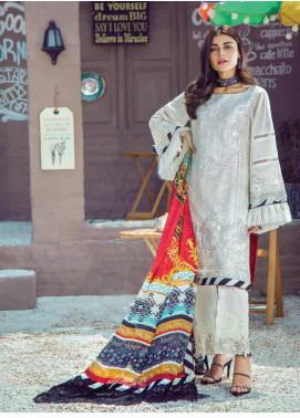 Shazia Kiyani by Elaf Embroidered Lawn Unstitched 3 Piece Suit SZK19F DE BELLA - Festive Collection
