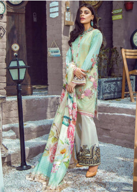 Shazia Kiyani by Elaf Embroidered Lawn Unstitched 3 Piece Suit SZK19F DE ISABELLA - Festive Collection