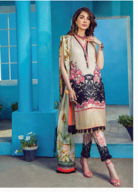 Shazia Kiyani by Elaf Embroidered Lawn Unstitched 3 Piece Suit SZK19F DE ROSAMONDE - Festive Collection
