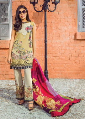 Shazia Kiyani by Elaf Embroidered Lawn Unstitched 3 Piece Suit SZK19F DE ROSELYN - Festive Collection