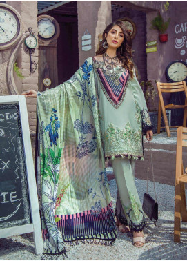 Shazia Kiyani by Elaf Embroidered Lawn Unstitched 3 Piece Suit SZK19F RUE KATHRYN - Festive Collection