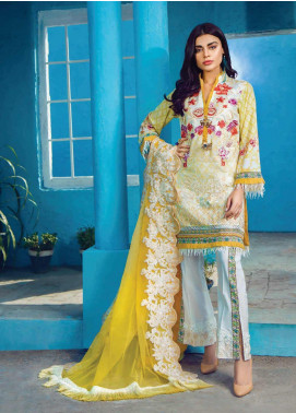 Shazia Kiyani by Elaf Embroidered Lawn Unstitched 3 Piece Suit SZK19F RUE MARGUERITE - Festive Collection
