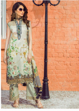 Shazia Kiyani by Elaf Embroidered Lawn Unstitched 3 Piece Suit SZK19F RUE VALERIE - Festive Collection