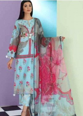Sheen by Charizma Embroidered Lawn Unstitched 3 Piece Suit SHN19-L3 25 - Mid Summer Collection