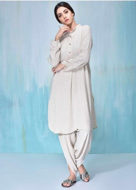 Sheep Casual Cotton Stitched 2 Piece Suit SB200607 IVORY