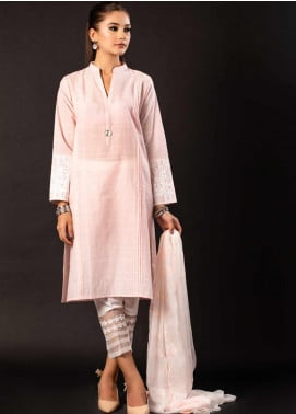 Sheep Casual Cotton Stitched 2 Piece Suit S200312 Pink