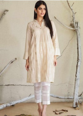Sheep Casual Cotton Net Stitched Kurtis SC20008 Beige
