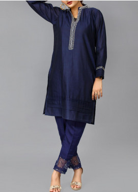 Sheep Casual Cotton Net Stitched Kurti SC100436 NAVY BLUE