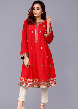 Sheep Casual Cotton Silk Stitched Kurti BS200285 Red
