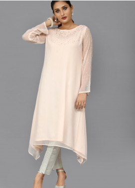 Sheep Casual Chiffon Stitched Kurti BS200368 Powder Pink