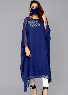 Sheep Casual Chiffon Stitched Kurti BS200381 Royal Blue