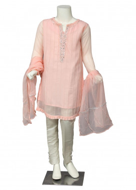 Sheep Chiffon Fancy 2 Piece Suit for Girls -  SK300045 Pink
