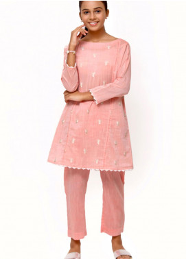 Sheep Cotton Fancy 2 Piece Suit for Girls -  SK200655 Pink
