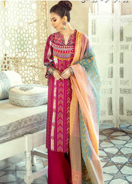 Sheesh Mahal by Cross Stitch Embroidered Lawn Unstitched 3 Piece Suit CS20SH 06 Kashmiri Crewel - Luxury Collection
