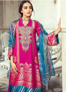 Sheesh Mahal by Cross Stitch Embroidered Lawn Unstitched 3 Piece Suit CS20SH 17 Rang-e-Banafsh - Luxury Collection