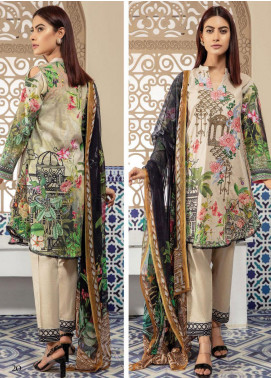 Master Fabrics Embroidered Lawn Unstitched 3 Piece Suit MF20SF 294 - Festive Collection