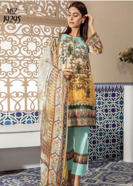 Master Fabrics Embroidered Lawn Unstitched 3 Piece Suit MF20SF 295 - Festive Collection