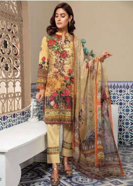 Master Fabrics Embroidered Lawn Unstitched 3 Piece Suit MF20SF 296 - Festive Collection