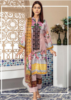 Master Fabrics Embroidered Lawn Unstitched 3 Piece Suit MF20SF 298 - Festive Collection