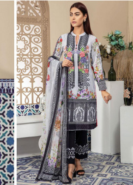 Master Fabrics Embroidered Lawn Unstitched 3 Piece Suit MF20SF 302 - Festive Collection