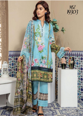 Master Fabrics Embroidered Lawn Unstitched 3 Piece Suit MF20SF 303 - Festive Collection