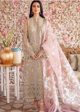 Shehnai by Afrozeh Embroidered Chiffon Unstitched 3 Piece Suit AF20WF 02 Paro - Wedding Collection