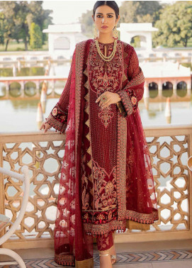 Shehnai by Afrozeh Embroidered Chiffon Unstitched 3 Piece Suit AF20WF 03 Anarkali - Wedding Collection