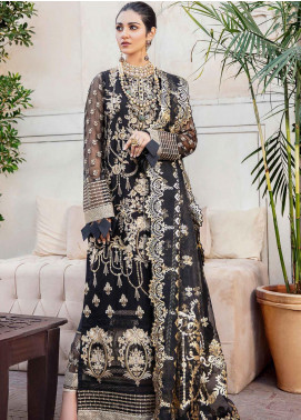 Shehnai by Afrozeh Embroidered Chiffon Unstitched 3 Piece Suit AF20WF 04 Aab Gina - Wedding Collection