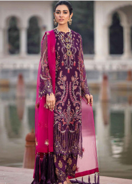Shehnai by Afrozeh Embroidered Chiffon Unstitched 3 Piece Suit AF20WF 06 Meherma - Wedding Collection