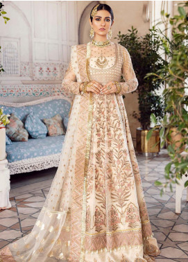 Shehnai by Afrozeh Embroidered Net Unstitched 3 Piece Suit AF20WF 07 Jahan Ara - Wedding Collection