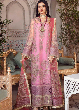 Shehnai by Afrozeh Embroidered Net Unstitched 3 Piece Suit AF20WF 09 Heer - Wedding Collection