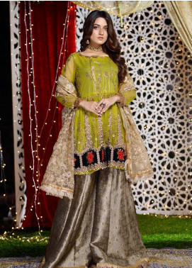 Shibori Embroidered Net Stitched 3 Piece Suit FW05