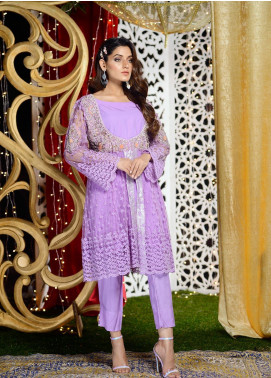 Shibori Embroidered Net Stitched 3 Piece Suit FW09