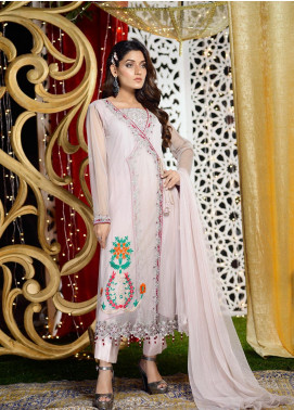 Shibori Embroidered Net Stitched 3 Piece Suit FW10