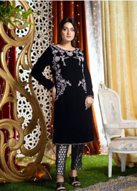 Shibori Embroidered Velvet Stitched 2 Piece Suit FW11