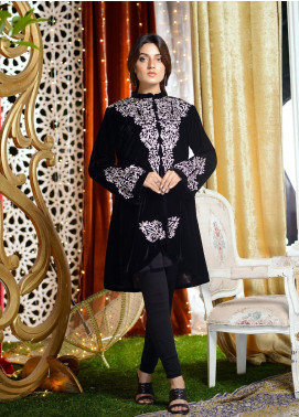 Shibori Embroidered Velvet Stitched Kurtis FW12