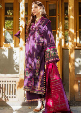 Shigar by Republic WomensWear Embroidered Karandi Unstitched 3 Piece Suit RW20SW 10 Kavidan - Winter Collection