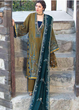 Shigar by Republic WomensWear Embroidered Khaddar Unstitched 3 Piece Suit RW20SW 3 Kayser - Winter Collection