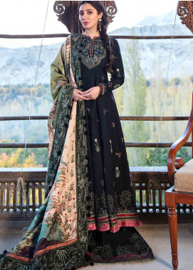 Shigar by Republic WomensWear Embroidered Cotton Satin Unstitched 3 Piece Suit RW20SW 6 Dahr - Winter Collection