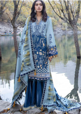 Shigar by Republic WomensWear Embroidered Karandi Unstitched 3 Piece Suit RW20SW 9 Alian - Winter Collection
