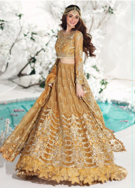 Shiza Hassan Embroidered Zari Net Unstitched 3 Piece Suit SH19F ENCHANTED SUN - Luxury Collection
