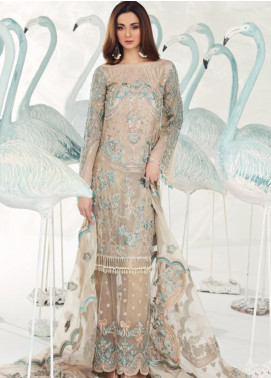 Shiza Hassan Embroidered Organza Unstitched 3 Piece Suit SH19F FROST FEST - Luxury Collection