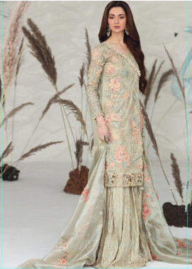 Shiza Hassan Embroidered Organza Unstitched 3 Piece Suit SH19F LILY ORCHID - Luxury Collection