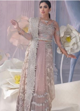 Shiza Hassan Embroidered Net Unstitched Saree SH21LF 08 Divine - Luxury Collection