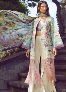Shiza Hassan Embroidered Jacquard Unstitched 3 Piece Suit SH19L 4A MAGNOLIA - Spring / Summer Collection